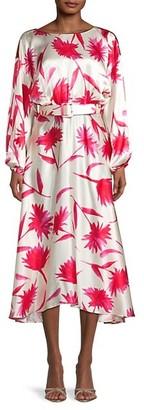 Saloni Floral Silk Dress
