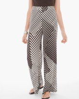 Chico's Patch Stripe-Print Palazzo Pants