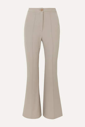 Low Classic Stretch-cady Flared Pants - Light gray