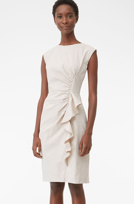 Rebecca Taylor Tailored Techy Linen Suiting Dress