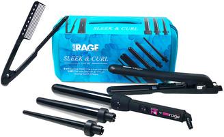 Cortex Hair Rage Sleek & Curl Gift Set - 3-In-1 Curling Iron & Flat Iron Bundle