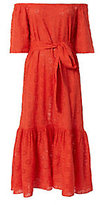 Rhode Resort Jay Eyelet Off-The-Shoulder Maxi Dress
