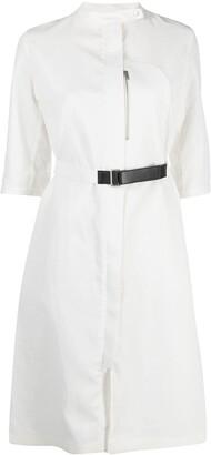 Jil Sander Belted-Waist Shirt Dress