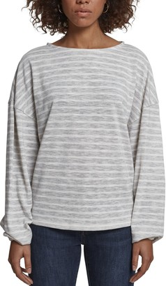 Urban Classics Women's Ladies Oversize Stripe Pullover Sweater