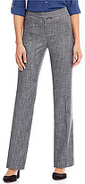 Jones New York Sydney Birdseye Dobby Weave Classic Straight-Leg Pants