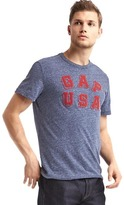 Gap Logo USA crew tee