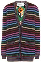 Gucci Striped Lurex Cardigan