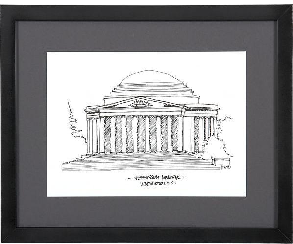 Crate & Barrel Cityscape Washington DC Print
