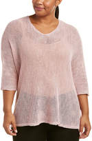 Nic+Zoe Plus Linen-Blend Top