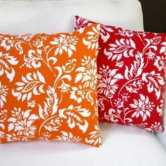 Wexford Artisan Pillows Geometric Floral Modern Indoor/Outdoor Throw Pillow Artisan Pillows Color: Berry