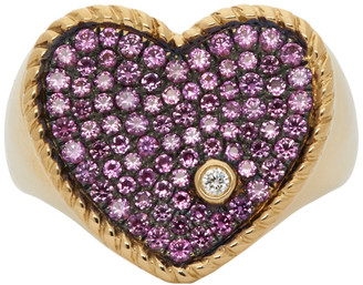 Yvonne Léon Gold and Pink Sapphire Amour Ring