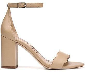 Sam Edelman Odila Scallop Leather Sandals