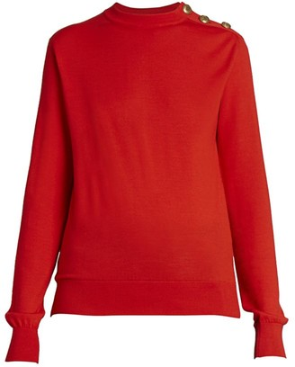 Givenchy Button-Trimmed Wool & Silk Sweater