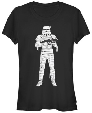 Fifth Sun Star Wars Women's Stormtrooper Mummy Wraps Halloween Short Sleeve Tee Shirt