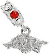 Dayna U Arkansas Razorbacks Crystal Sterling Silver Logo Charm