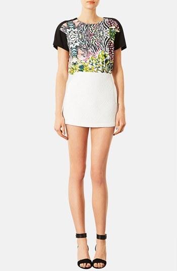 Topshop Quilted Miniskirt