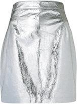Proenza Schouler metallic fitted mini skirt