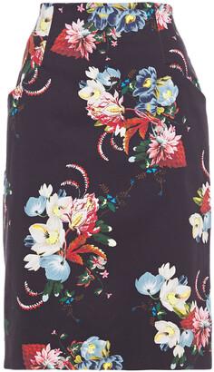 Erdem Floral-print Stretch-cotton Pencil Skirt