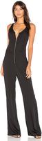 Bobi BLACK Zip Front Jumpsuit