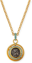 Jose & Maria Barrera Long Coin Pendant Necklace
