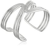 Zina Sterling Silver Wired Mirrored Cuff Bracelet