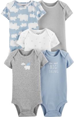 Carter's Baby Boy 5-Pack Blue Prints Original Bodysuits