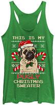 Fifth Sun Women's Tank Tops ENVY - Envy 'Pugly Christmas Sweater' Racerback Tank - Women & Juniors