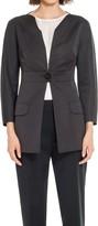 Max Studio Heavy Satin One Button Jacket
