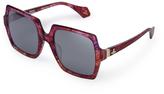 Vivienne Westwood Burgundy Laser Cut Sunglasses VW933S02