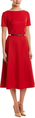Sash A-Line Midi Dress