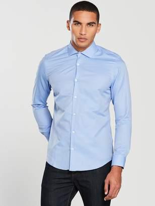 Very Cut Away Collar Textured Shirt