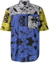 Versace printed colour block shirt