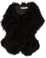 Marni Black Shearling Stole