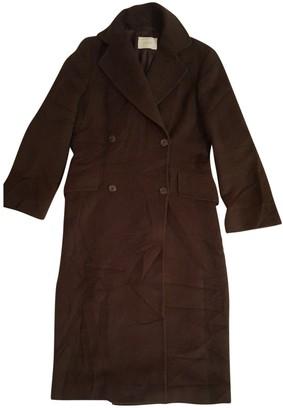 Brioni \N Brown Wool Coat for Women