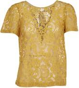 Semi-Couture Semicouture SEMICOUTURE Yellow Lace T-shirt