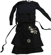 Rika Black Silk Dress for Women