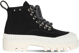 Proenza Schouler 40mm Nylon Lace-up Trekking Boots
