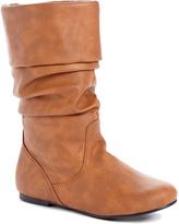 Wild Diva Cognac Kalisa Slouch Boot
