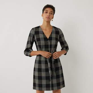 Warehouse CHECK MINI SHIFT DRESS