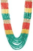 Natasha Accessories Multi-Strand Seed & Elongated Bugle Bead Necklace