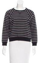 Saint Laurent Striped Cropped Sweatshirt