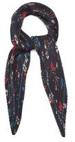 Balenciaga Fleur De Nuit pleated silk scarf