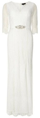 Dorothy Perkins Womens **Off White 'Evangelina' Wedding Maxi Dress, White