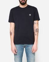 Stone Island Patch Logo T-Shirt in Navy Blue
