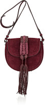 Altuzarra Women's Ghianda Knot Small Saddle Bag-BURGUNDY
