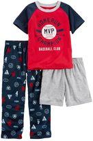 Carter's Boys 4-12 Baseball MVP 3-Piece Pajama Set