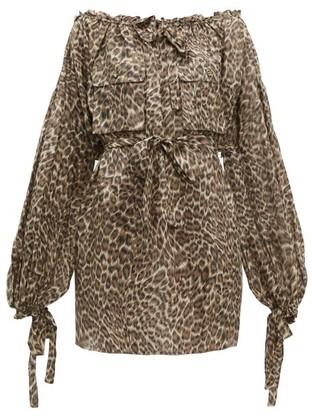 Zimmermann Suraya Leopard-print Silk Dress - Womens - Leopard
