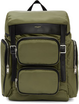 Saint Laurent Green Nylon Hunting Backpack