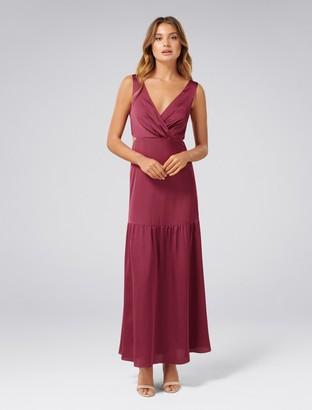 Ever New Alia Cut-Out Satin Maxi Dress