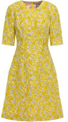 Lela Rose Metallic Brocade Dress